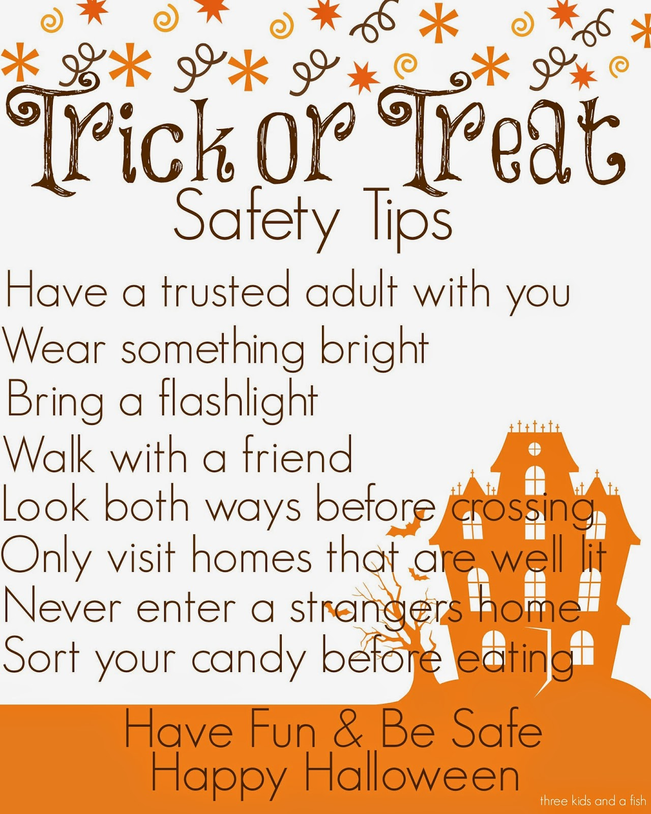 Three Kids And A Fish Trick Or Treat Safety Tips