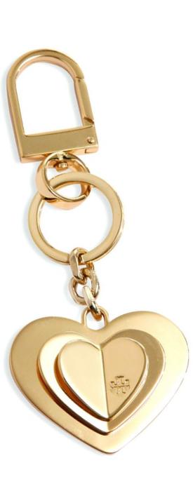 Tory Burch Layered Heart Keychain