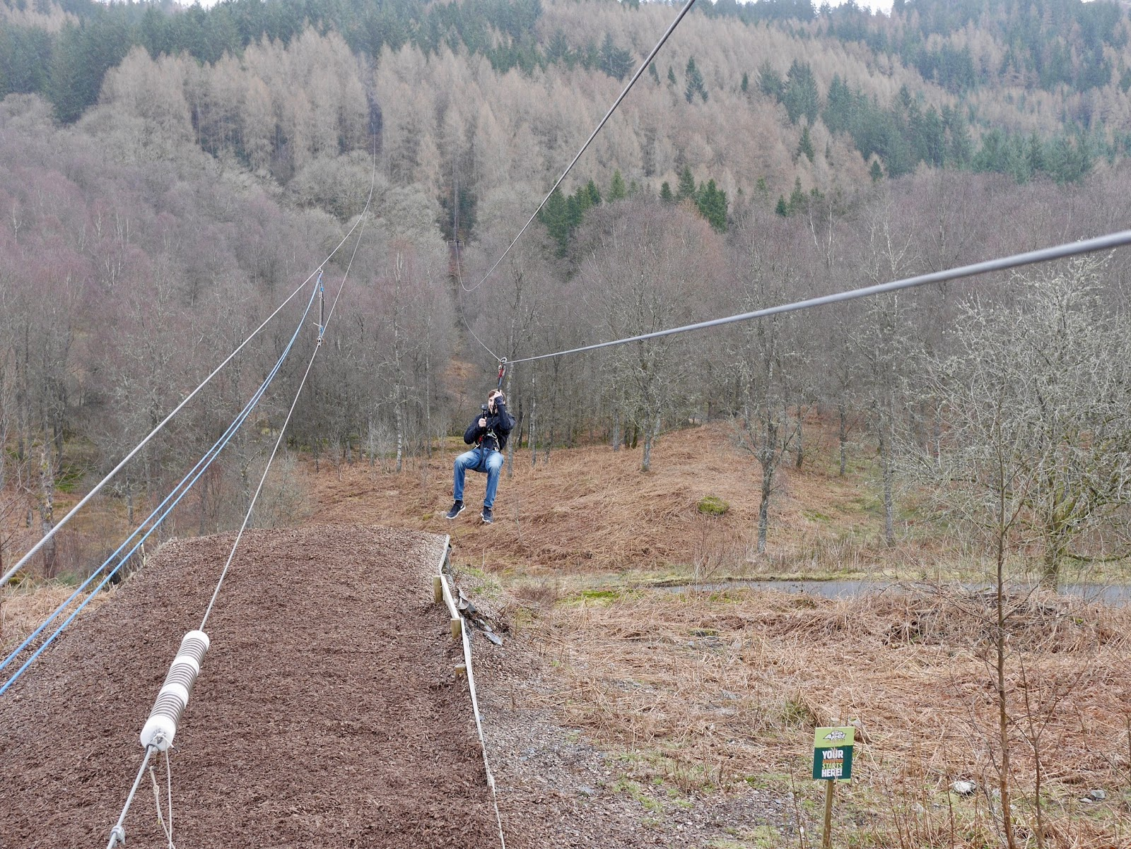 Go-Ape review, Aberfoyle, Scotland , Zipline, Rope Course, www.calmctravels.com