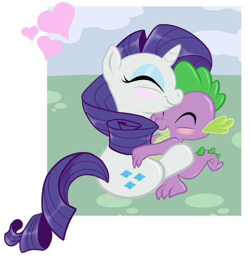 My little pony spike and rarity