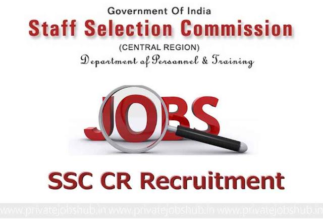 SSC CR Recruitment