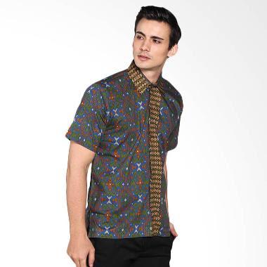 Model baju batik terbaru pria lengan pendek