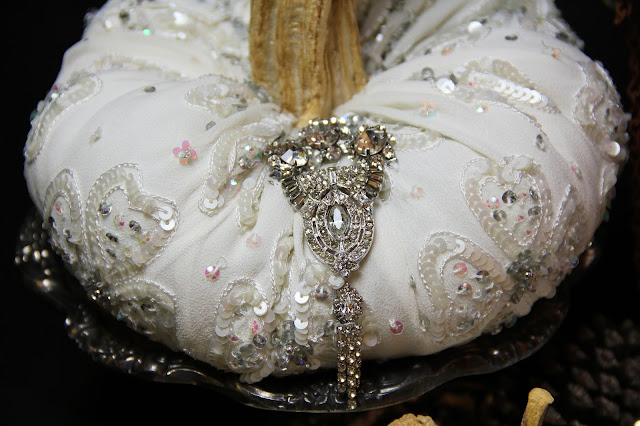 Halloween Wedding, Fall Wedding Centerpiece, Ornate Splendor