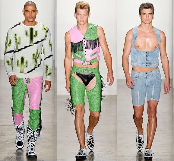 But best of all, Jeremy Scott went for the full-on