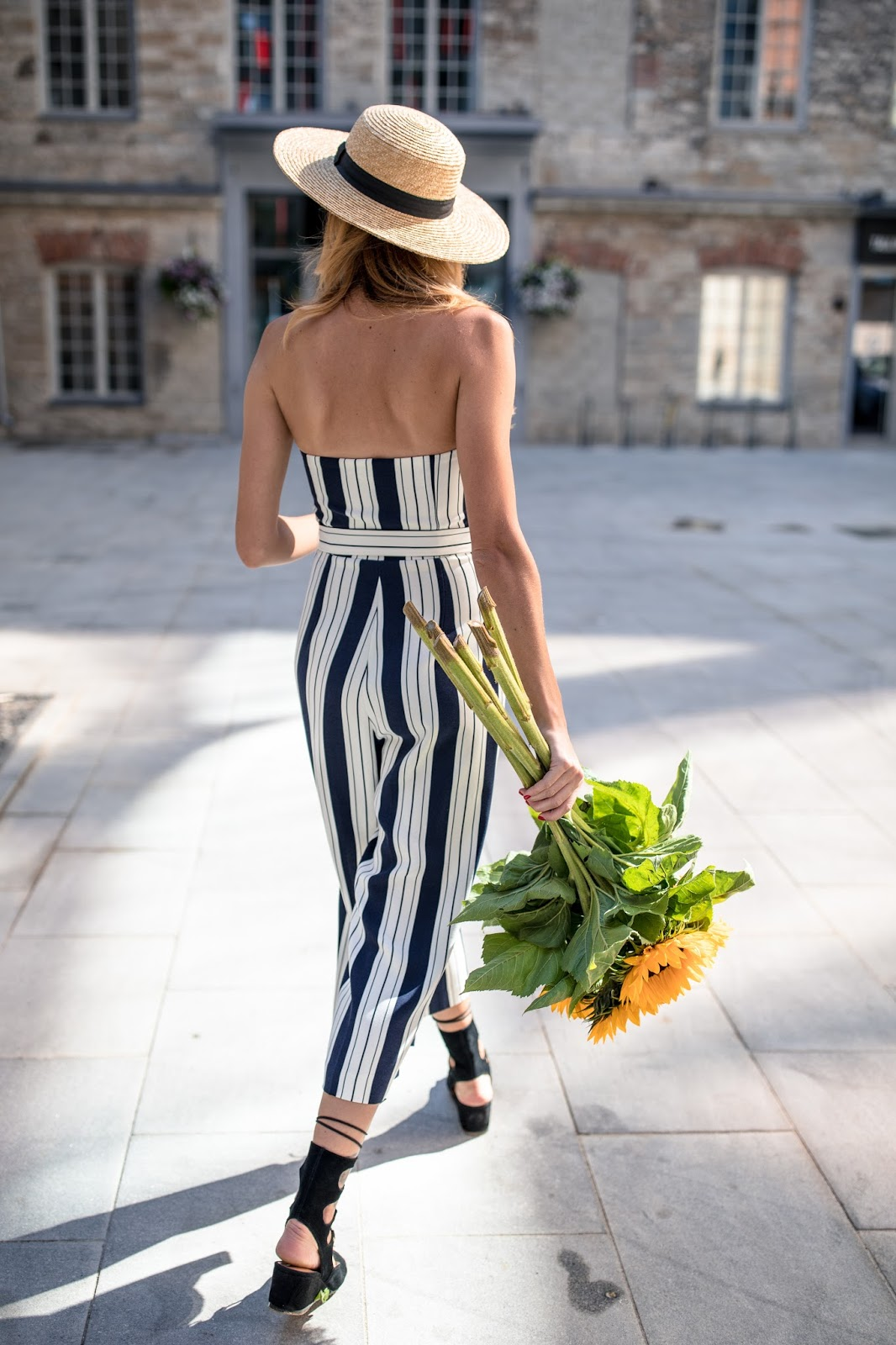 banker stripes trend jumpsuit
