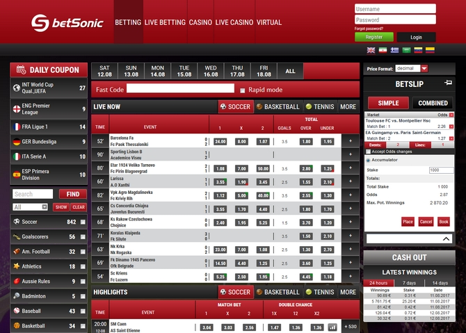 Betsonic Screen