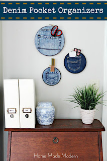 denim wall pockets