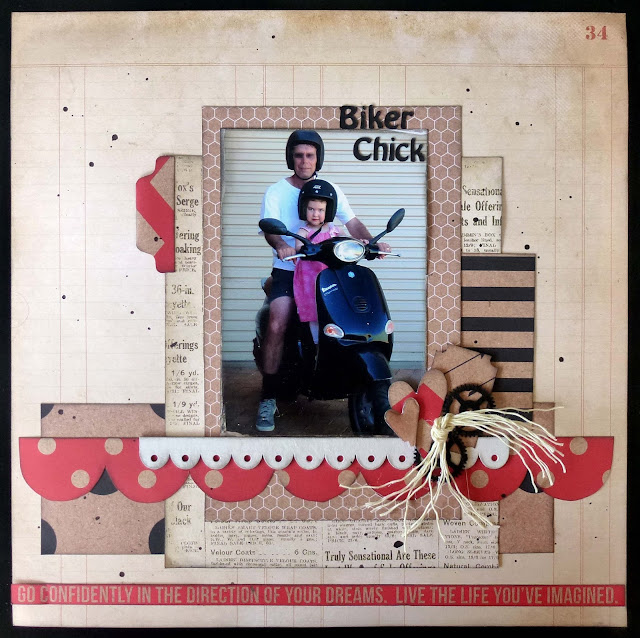 Scrapbooking layout using Kaisercraft Mix and Match paper range