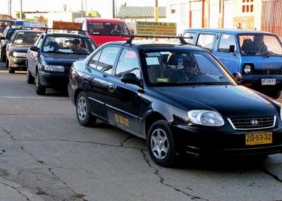Táxi coletivo em Pucón