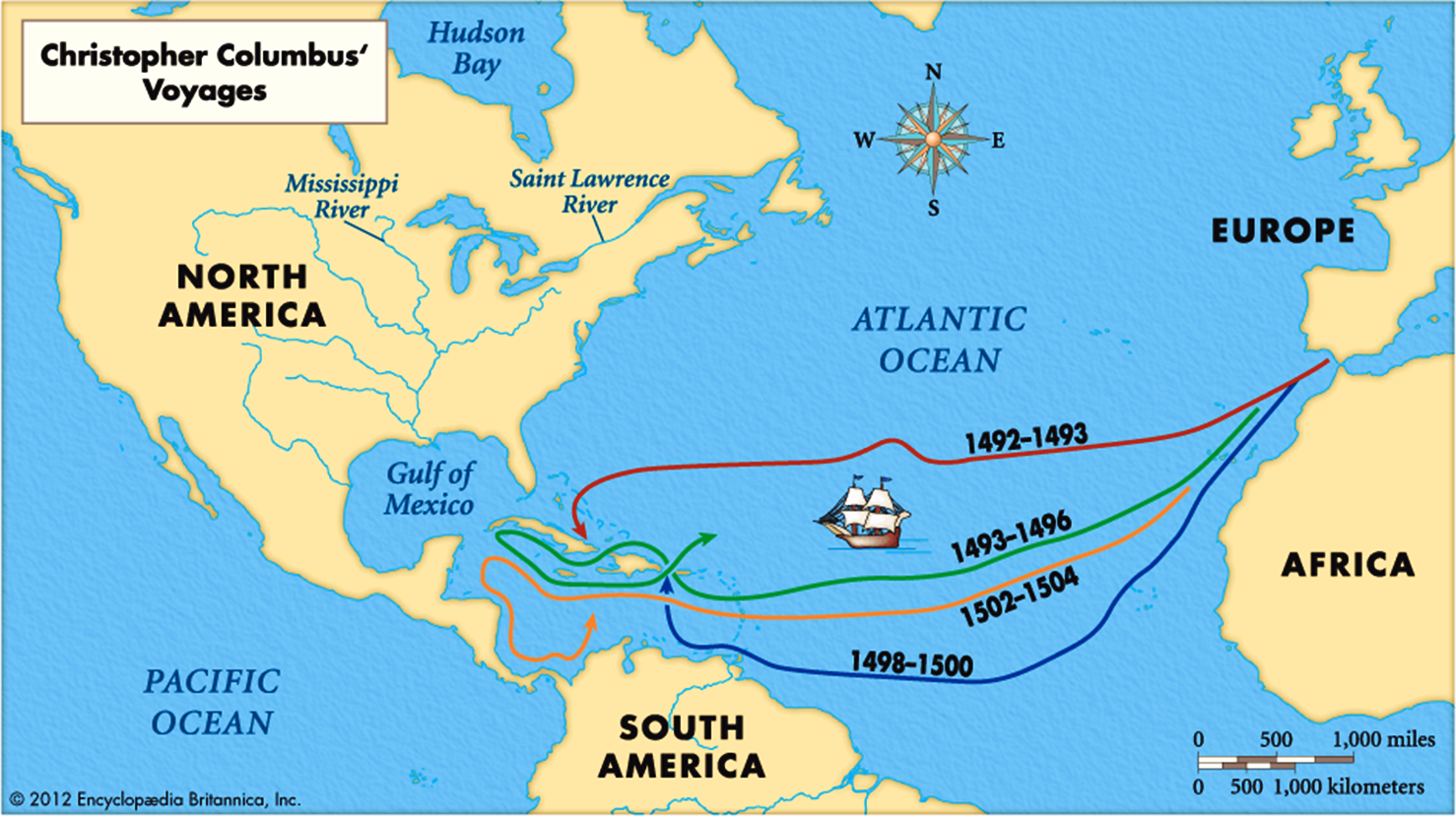Book Of Mormon Resources Voyages Of Columbus