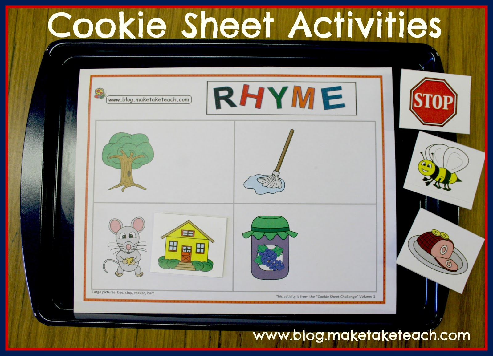 Cookie Sheet Activity Rhyme
