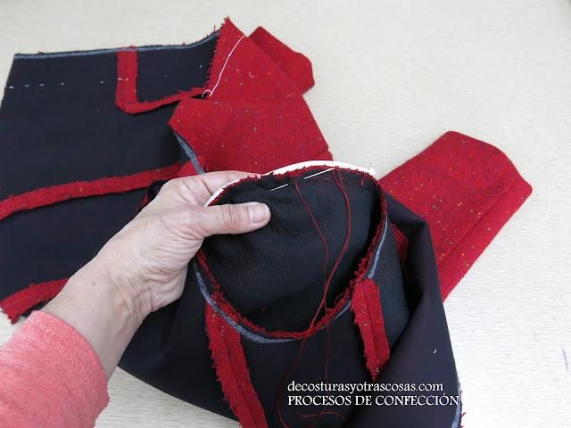 como coser hombreras a una blazer