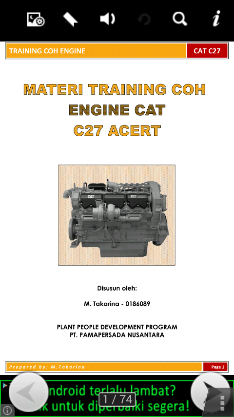 Materi Training Engine CAT C27