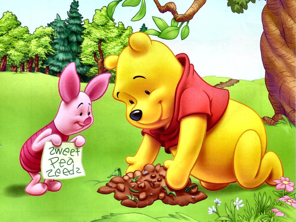 Wallpaper Winnie The Pooh: Defiant Flower