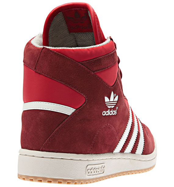 cheap for discount adb0a a8bb5 This time its a red suede and mesh mix that serves as the base for white  Stripes, as the Decade Mid OG comes through with a tonal Cardinal setup  atop a gum ...