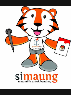 Si Maung, Maskot Pilwalkot Bandung 2018