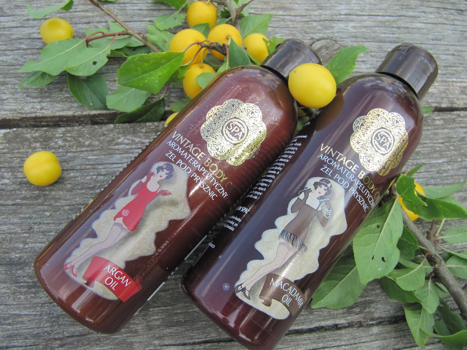 Aromaterapeutyczne żele Pod Prysznic Spa Vintage Body Oil Olejek