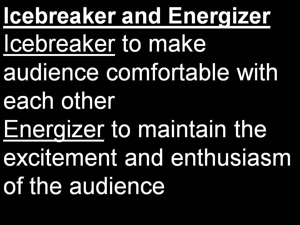 Difference Icebreaker, Energizer and How to Conduct One