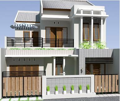 Desain Gambar Rumah Dua Tingkat Sederhana