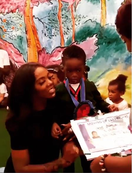 Tiwa Savage's Son, Jamil Graduates From Kindergarten [Photo + Video]