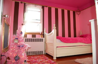 Desain Kamar Anak Cat Warna Pink Sederhana