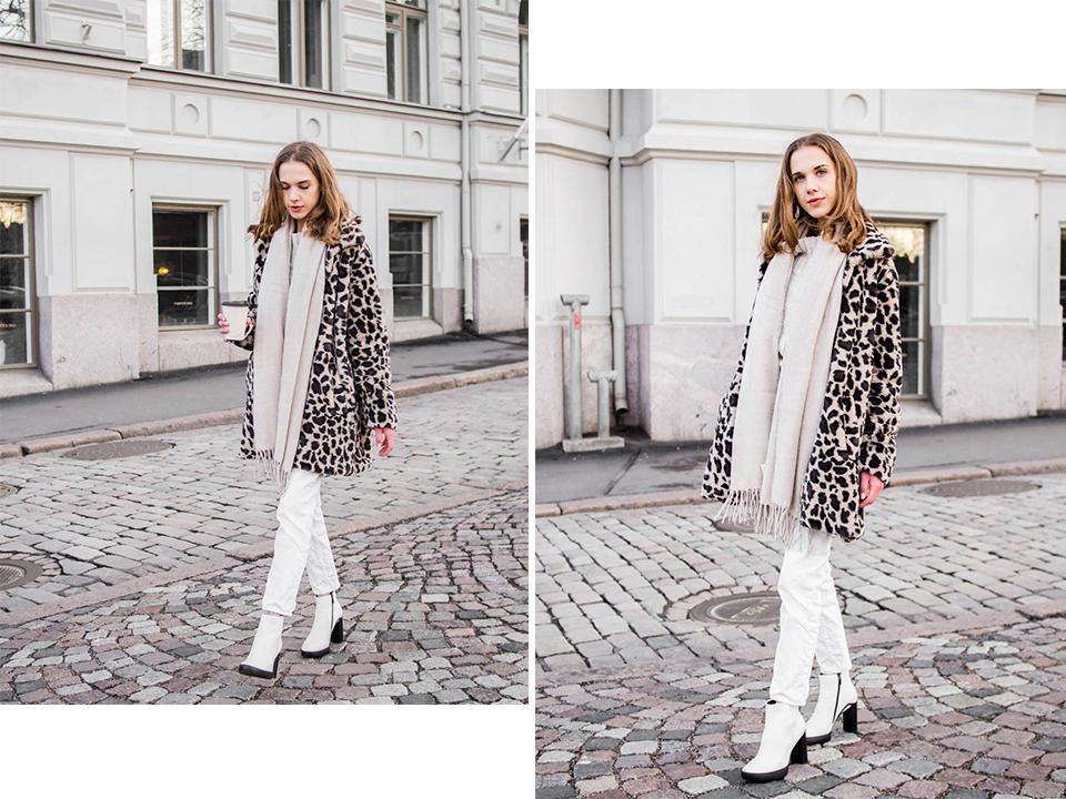 Winter streetstyle with leopard coat, fashion blogger, Helsinki, Finland - Talvimuoti, leoparditakki, muotibloggaaja, Helsinki