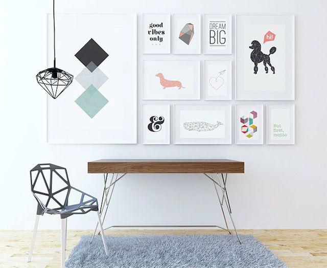 10 trucos para decorar tu hogar en invierno por menos de 100€, decorar con láminas