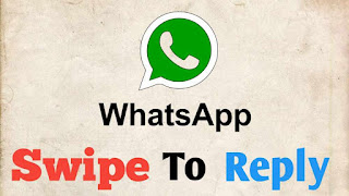 Whatsapp Swipe To Reply Feature