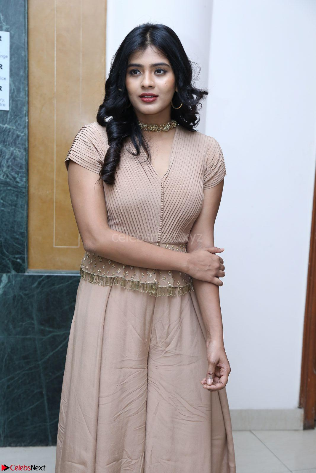 Hebah Patel in Brown Kurti and Plazzo Stunning Pics at Santosham awards 2017 curtain raiser press meet 02.08.2017
