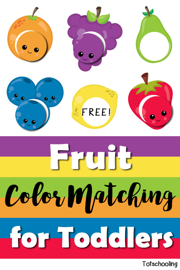 Fruit Color Matching for Toddlers | Totschooling - Toddler ...