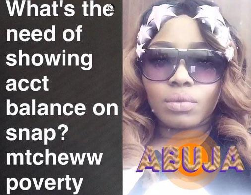 Bobrisky uploads his account balance on Snapchat, gets clapback from Halima Abubakar