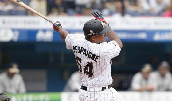 Alfredo Despaigne acaba de cumplir su tercera temporada en la NPB, todas con los Marinos de Lotte