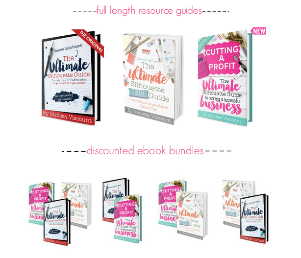silhouette books for dummies, silhouette guides, silhouette cameo books, learn to use silhouette, silhouette help for beginners, silhouette books from silhouette school