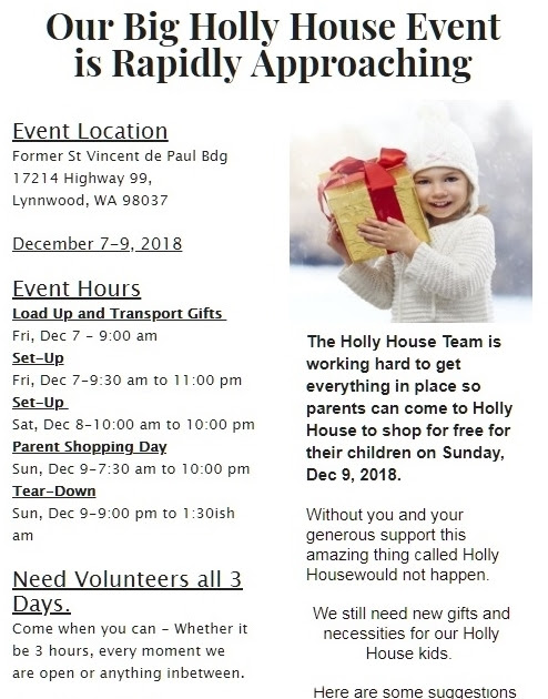 Holly House Event December 7th - 9th