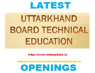 Uttarakhand Board Of Technical Education Dehradun-Letsupdate