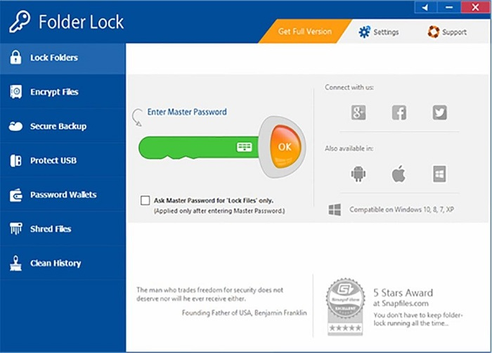 About Folder Lock Software
