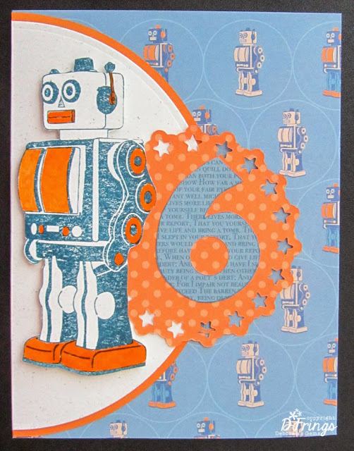 Robot Card - Photo by Deborah Frings - Deborah's Gems