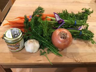meatless monday carrot soup ingredients dill onion yogurt garlic