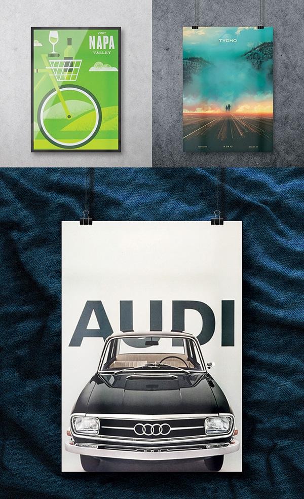 Download Poster Mockup PSD Terbaru Gratis - Free Poster Mockup PSD