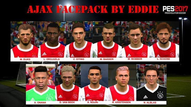 AFC Ajax Facepack PES 2017