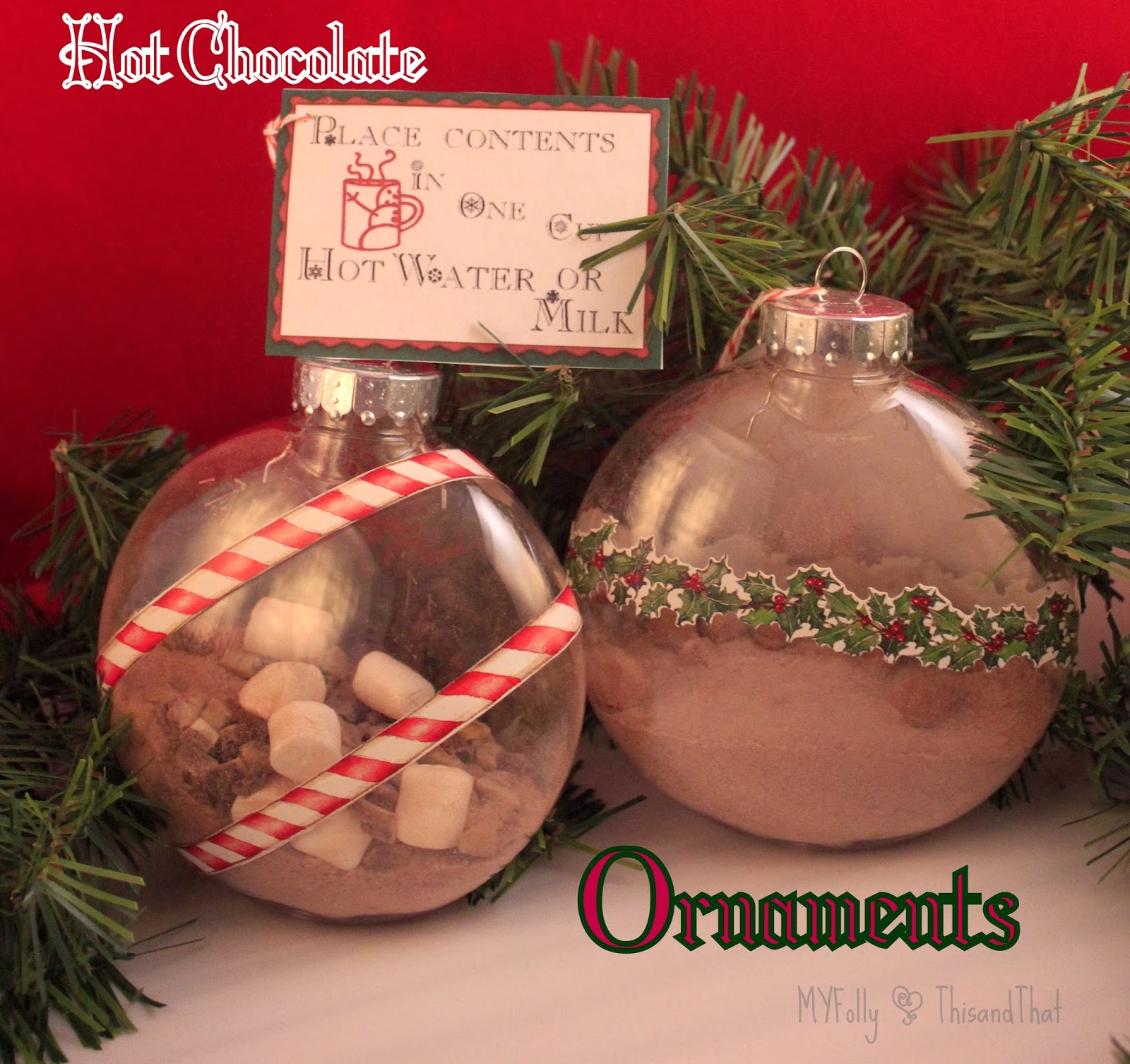 This And That: Hot Chocolate Ornaments
