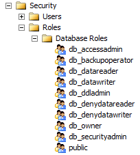 SQL Server Fixed Database Roles