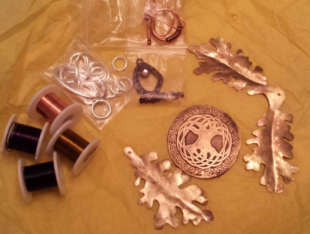 Beed Peeps Swap 'n Hop, May 2 reveal ~ wire, copper, brass, metal leaves, tree of life, fancy clasp :: All Pretty Things