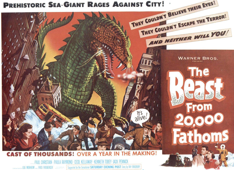 1fecf0ea8bc6 The Beast From 20,000 Fathoms, 1953 (Gif) | BlueisKewl