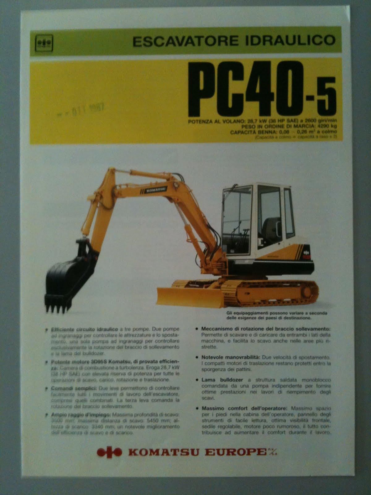 ... 7 pc45 Array - earthmoving machinery sales brochures komatsu track  excavator pc40 rh mmtcat blogspot com