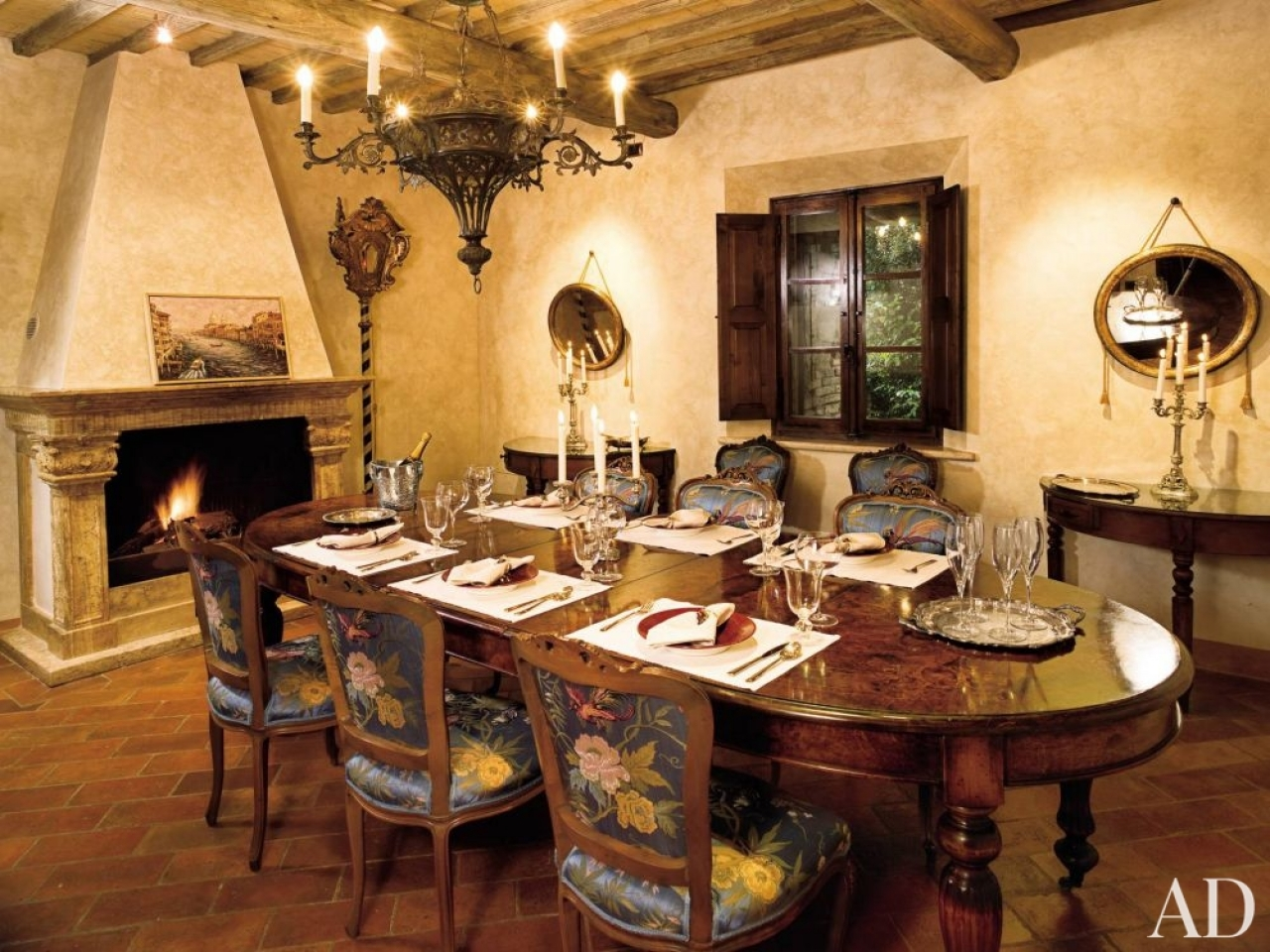 Live with what you love interesting tuscan style flooring for Tuscan dining room