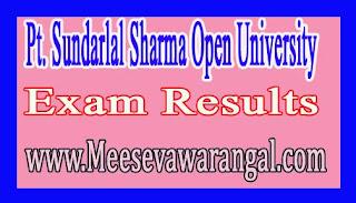 Pt. Sundarlal Sharma Open University UG BA 2nd Year 2016 Exam Results