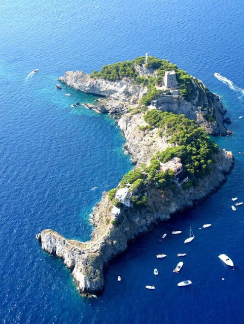 Le Sirenuse, or Li Galli, a small group of islands off the Amalfi coast of Italy.