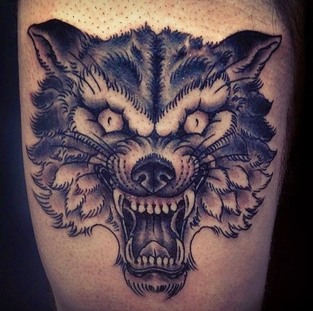 Great Traditional Wolf Head Tattoo Designs For You