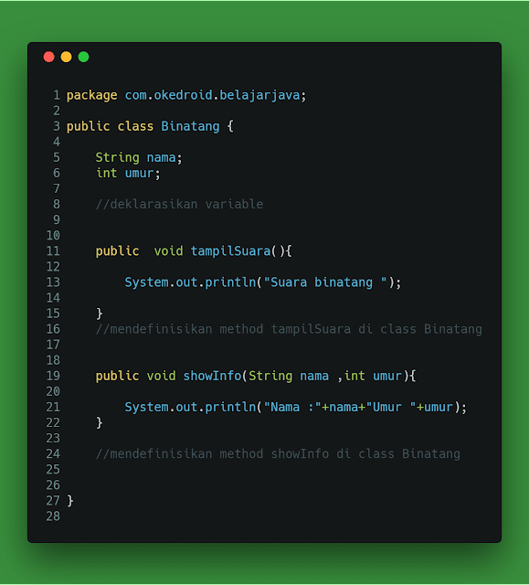 Super class akan mewarisi nilai dari atribut atau behavior ke Class turunanya atau class  Belajar Inheritance (Pewarisan) di Bahasa Pemrograman Java